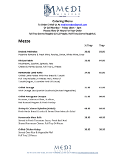 Catering Menu - Medi Wine Bar