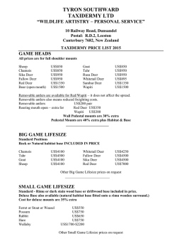 Price List PDF - Peel Forest Safaris