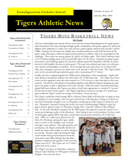 Tigers Athletic News - Transfiguration Catholic Church and School