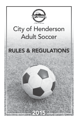 City of Henderson Adult Soccer