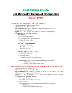 Close Campus drive by Jai Mineralrs Group of Companies Monday