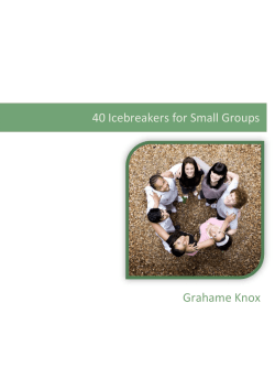 40 Icebreakers for Small Groups - Insight
