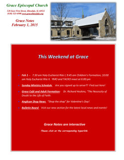 Our Prayer List - Grace Episcopal Church
