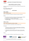 Draft Agenda - International Growth Centre