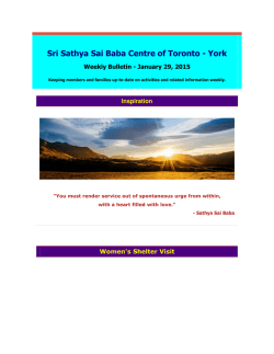 Sri Sathya Sai Baba Centre of Toronto - York