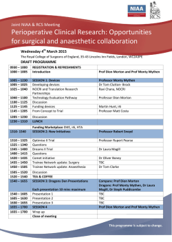 Programme - The Royal College of Anaesthetists