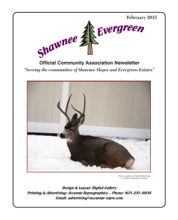 February 2015 Newsletter - Shawnee