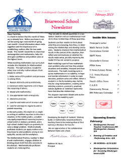 Briarwood Newsletter - West Irondequoit Central School District