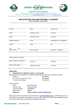 2015 Application Form Youth Football
