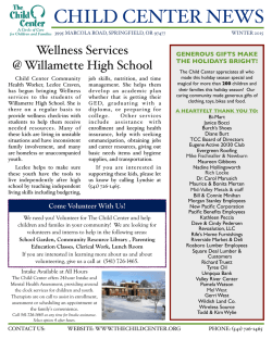 The Child Center Newsletter!!!