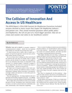 The Collision of Innovation And Access In US Healthcare