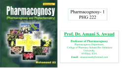 Prof. Dr. Amani S. Awaad Pharmacognosy