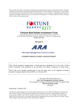 Fortune Real Estate Investment Trust