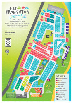 MAP LEGEND - Port Broughton Caravan Park
