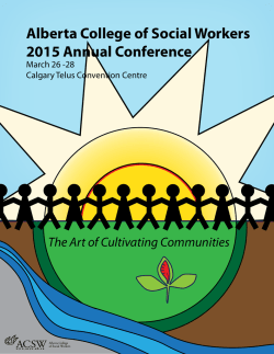 Alberta College of Social Workers 2015 Annual Conference