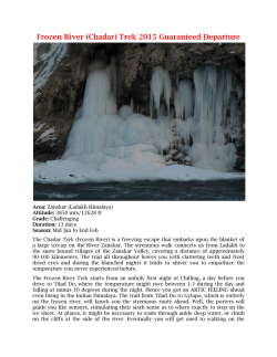 Frozen River (Chadar) Trek 2015 Guaranteed Departure