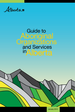 Guide to Aboriginal Organizations and Services in Alberta