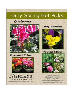 Availability List - Ashland Greenhouses