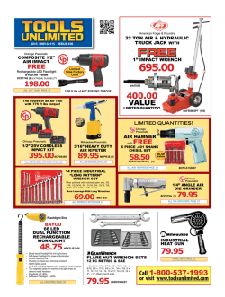 Tools Sales Flyer - ToolsUnlimited.com