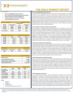 THE DAILY MARKET REPORT - Gold Coast Fund Management