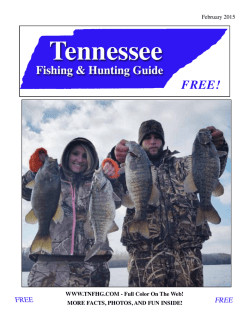 February - Tennessee Fishing and Hunting Guide