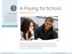 Paying for School - Allied Health Schools