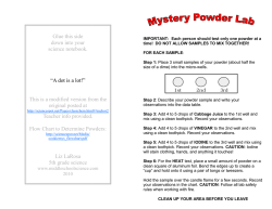 Mystery Powder Lab