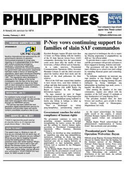P-Noy vows continuing support to families of slain SAF commandos