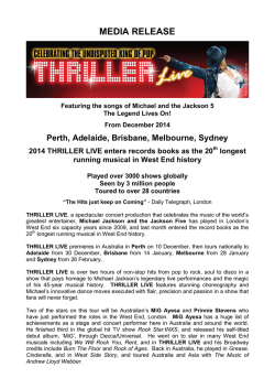 Read – Thriller Live Media Release