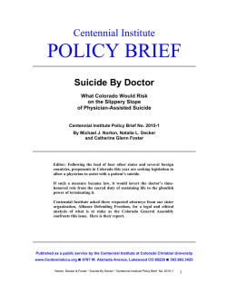 new policy brief - Colorado Christian University
