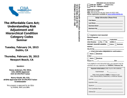 The Affordable Care Act - California Health Information Association