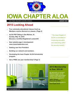 ICA Newsletter January 2015
