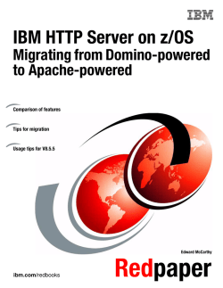 IBM HTTP Server on z/OS: Migrating from Domino