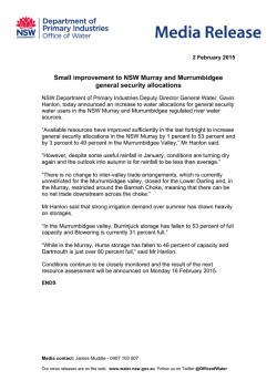 Small improvement to NSW Murray and Murrumbidgee general