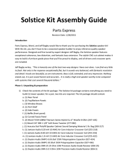 Solstice Tower Speaker Assembly Manual