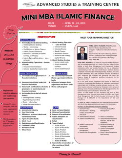 mini mba islamic finance