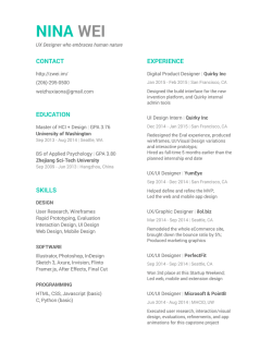my resume - Nina Wei