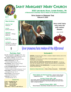 Weekly Bulletin - Saint Margaret Mary Church