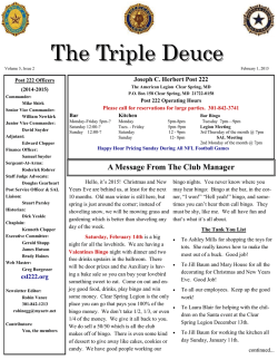 The Triple Deuce - Clear Spring Legion Post 222