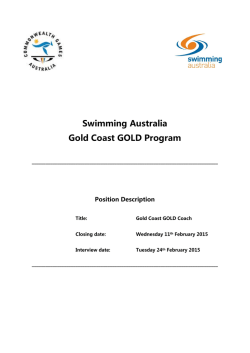 Gold Coast GOLD Coach - Position Description