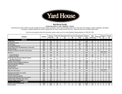 nutrition info - Yard House Restaurants
