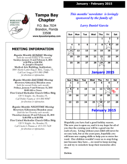 January - February 2015 Newsletter