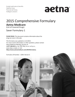 2015 Comprehensive Formulary