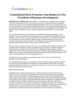Constellation West Promotes Tom Medara to Vice