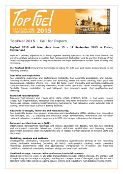 TopFuel 2015 – Call for Papers