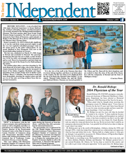 2014 Physician of the Year - Independent Newspaper Group