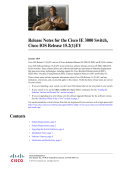Release Notes for the Cisco IE 3000 Switch, Cisco IOS Release