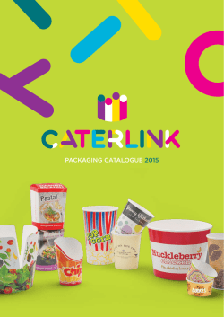 PACKAGING CAtAloGue 2015