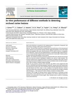 PDF (0.3 MB) - Journal of Dentistry
