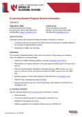 E-Learning Student Program General Information